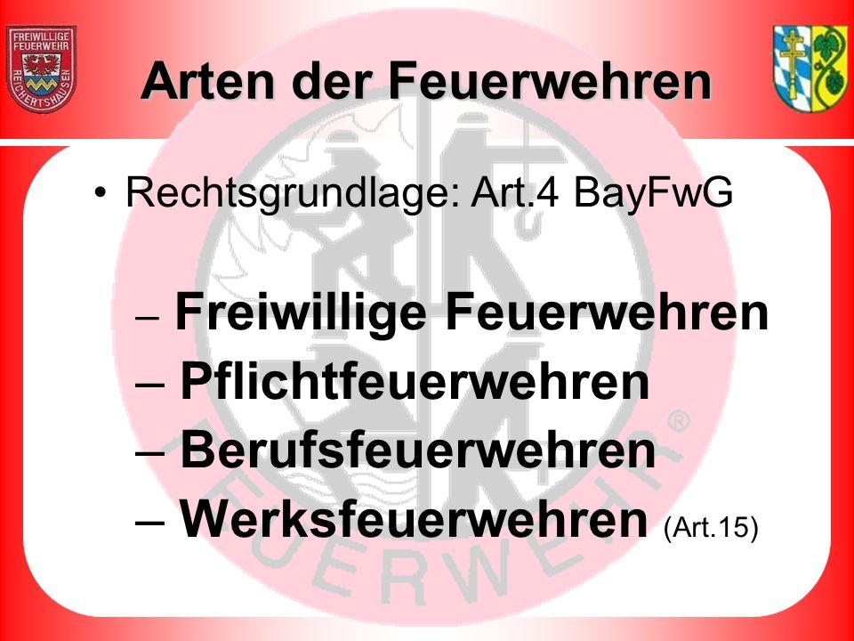 Werksfeuerwehren (Art.15)
