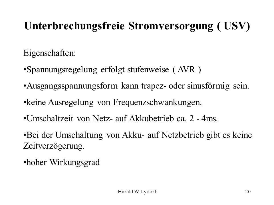 Unterbrechungsfreie Stromversorgung ( USV)
