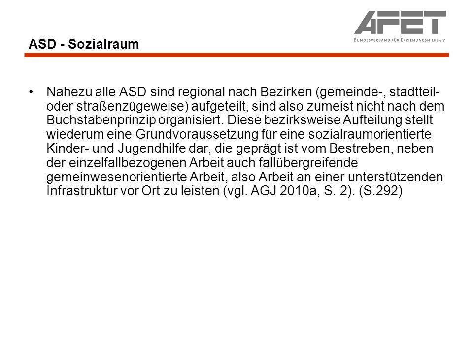 ASD - Sozialraum