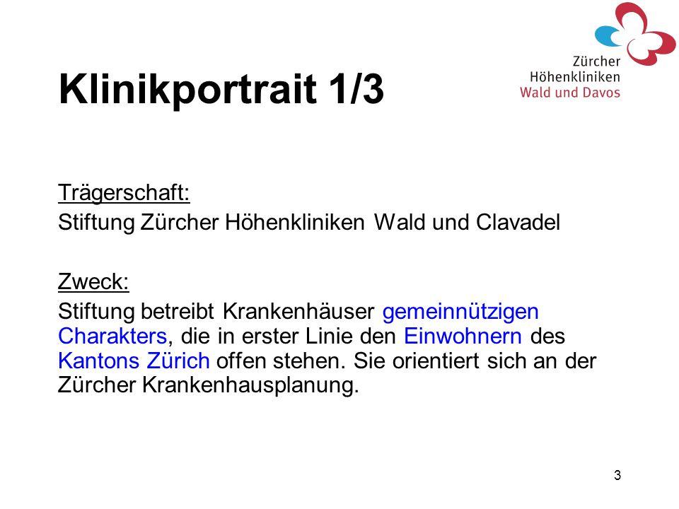 Klinikportrait 1/3 Trägerschaft: