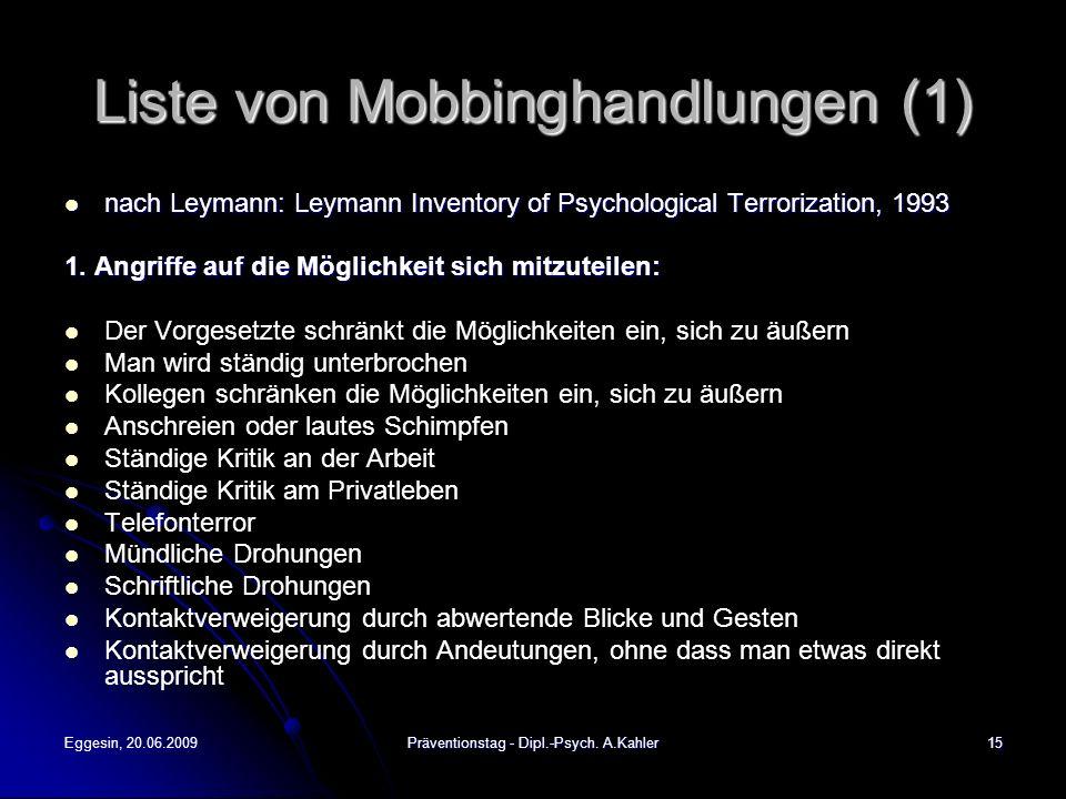Liste von Mobbinghandlungen (1)