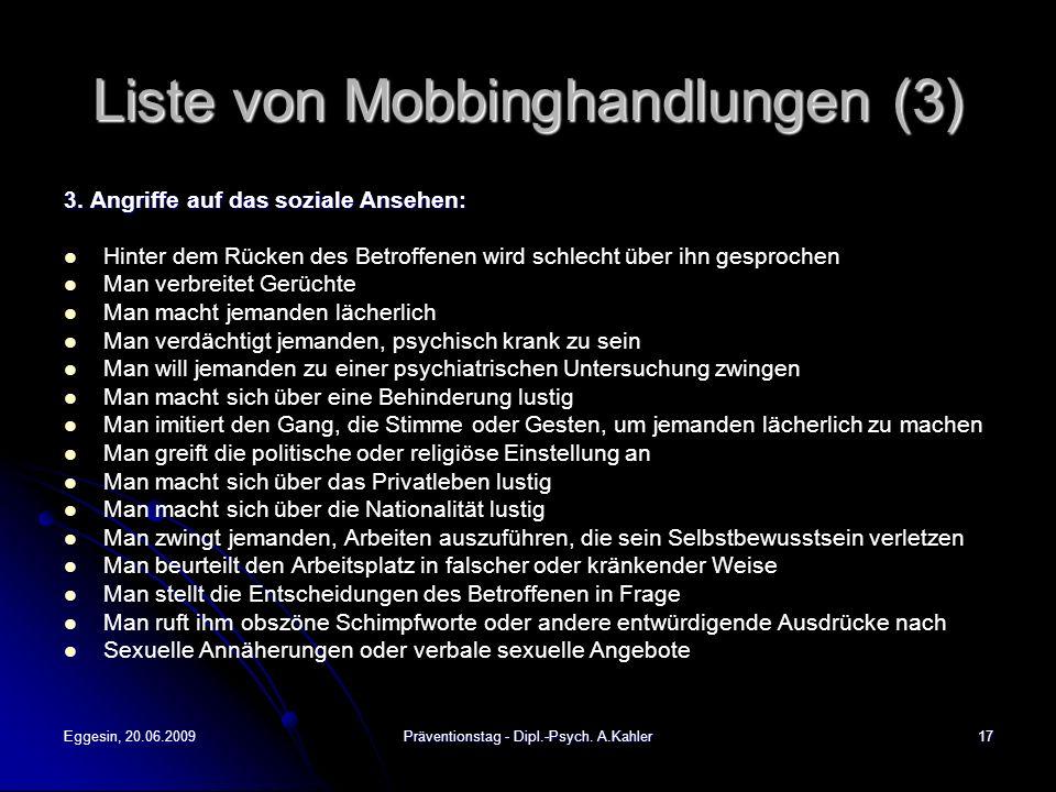 Liste von Mobbinghandlungen (3)
