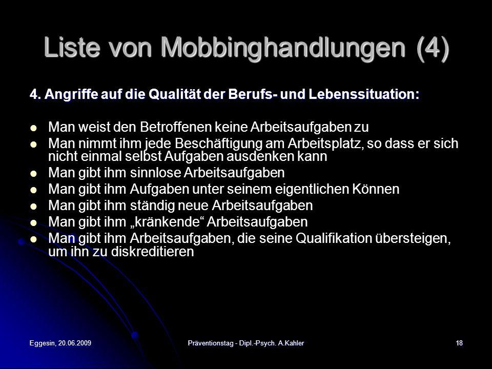 Liste von Mobbinghandlungen (4)