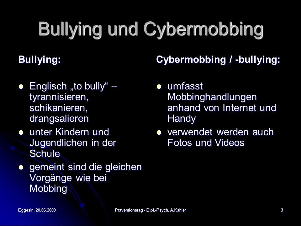 Bullying und Cybermobbing