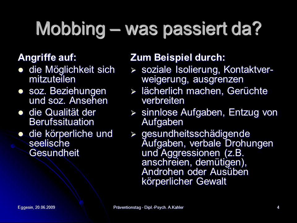 Mobbing – was passiert da