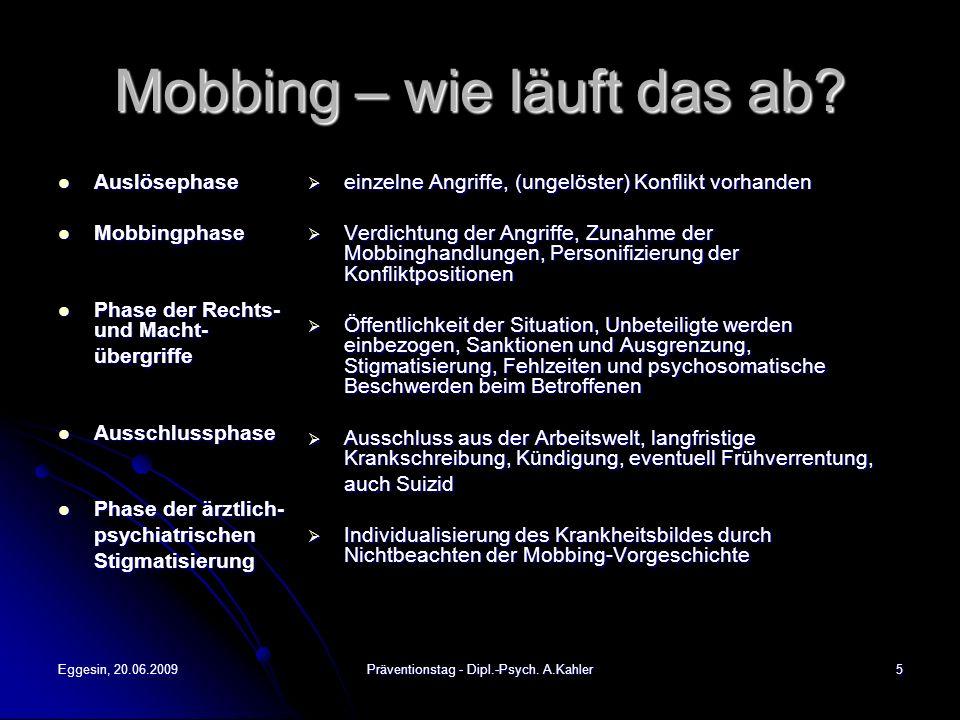 Mobbing – wie läuft das ab