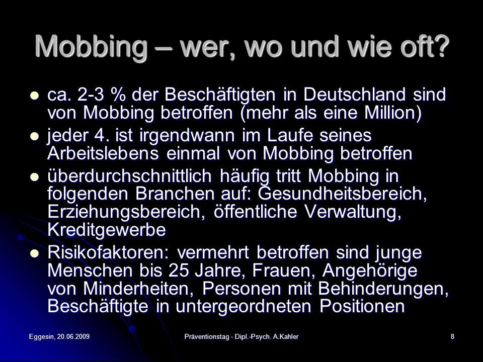 Mobbing – wer, wo und wie oft