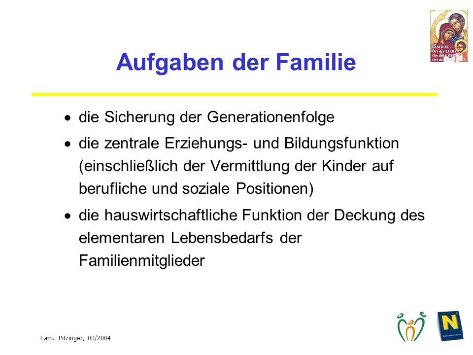 Aufgaben der Familie die Sicherung der Generationenfolge
