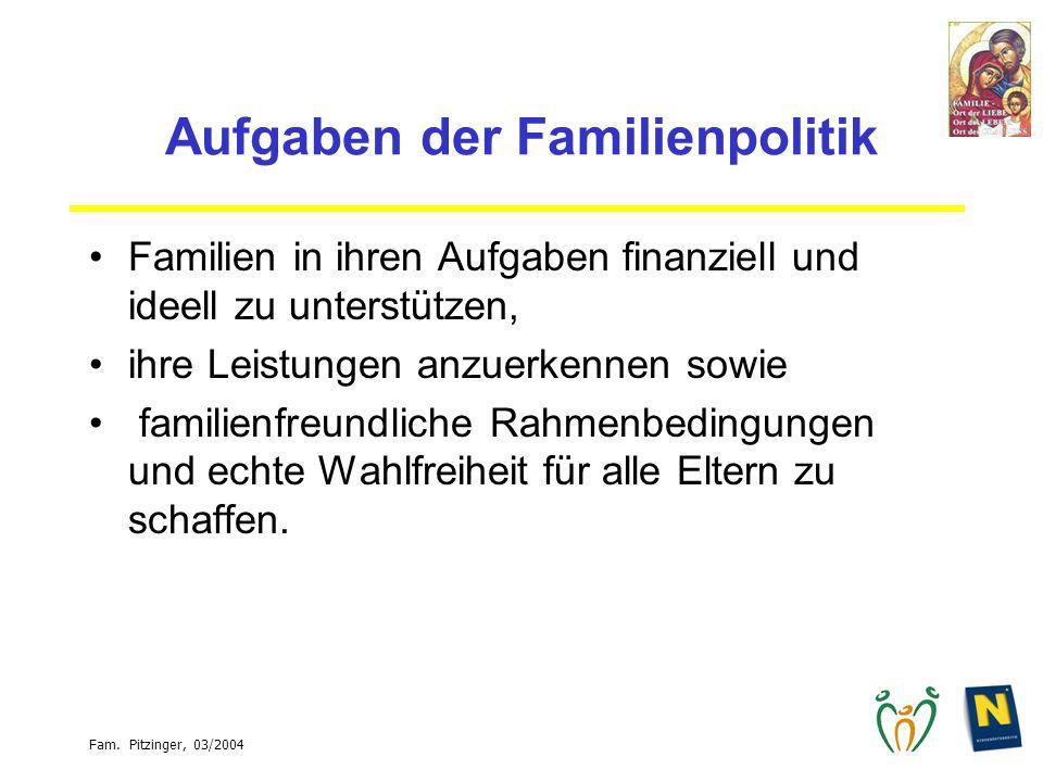 Aufgaben der Familienpolitik