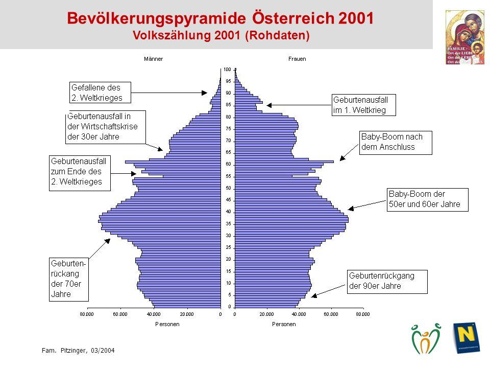 Bevölkerungspyramide Österreich 2001 Volkszählung 2001 (Rohdaten)