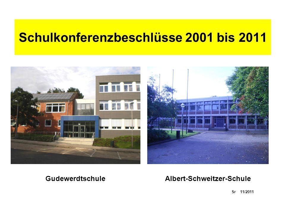 Schulkonferenzbeschlüsse 2001 bis 2011