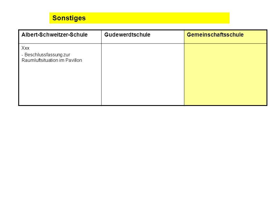 Sonstiges Albert-Schweitzer-Schule Gudewerdtschule Gemeinschaftsschule