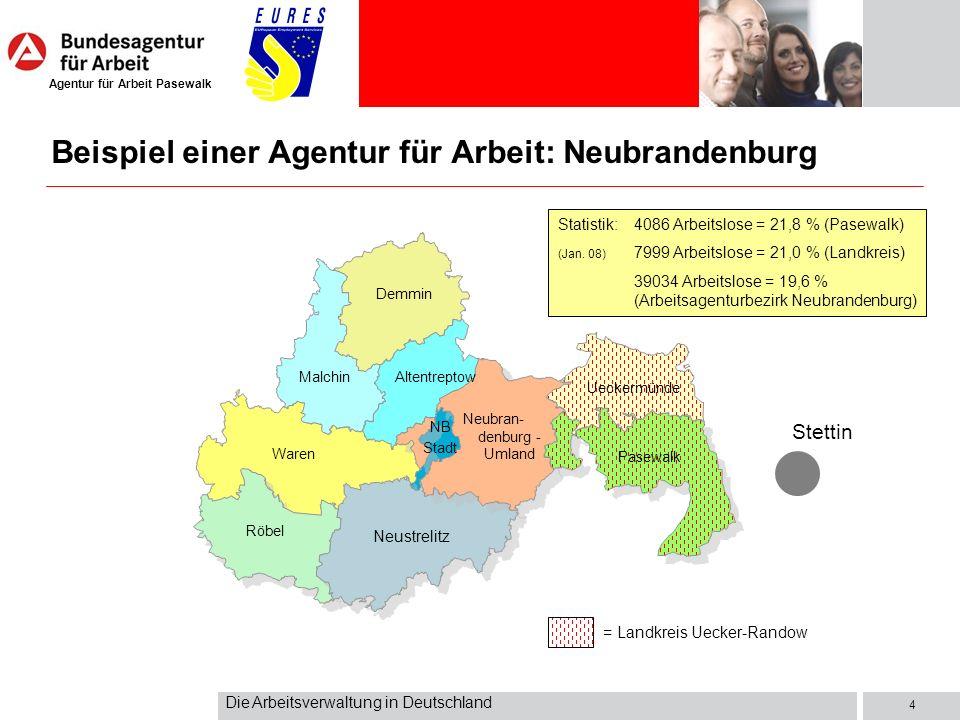 Beispiel einer Agentur für Arbeit: Neubrandenburg