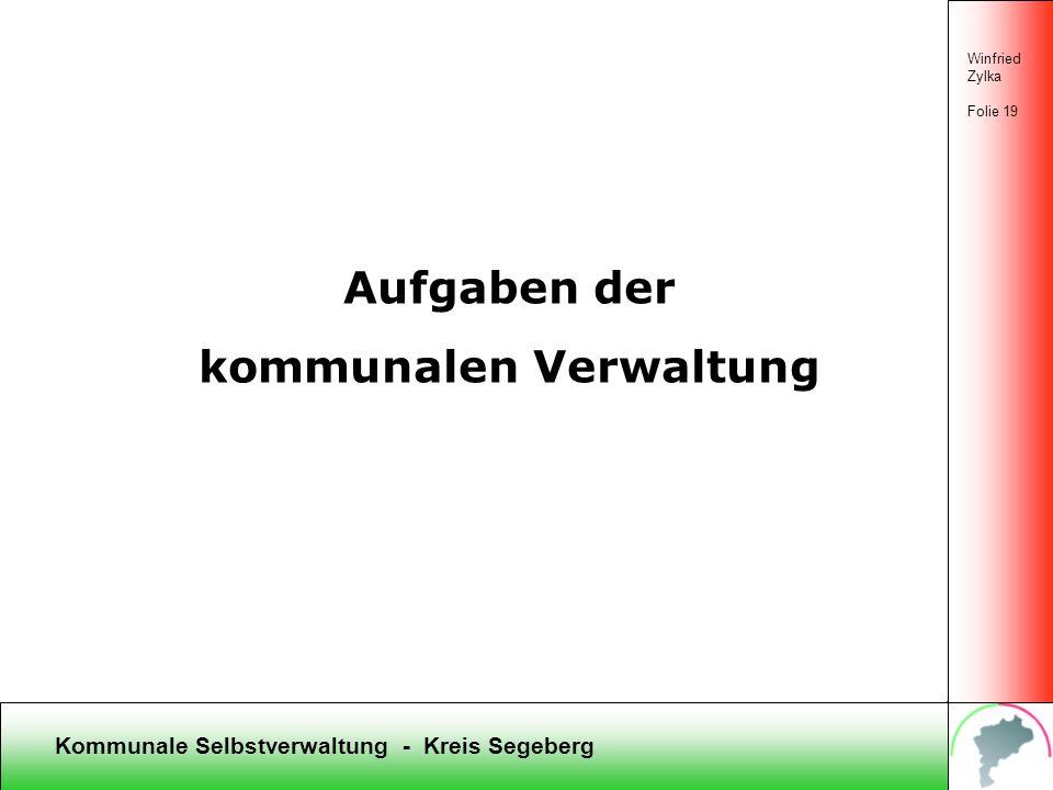 kommunalen Verwaltung