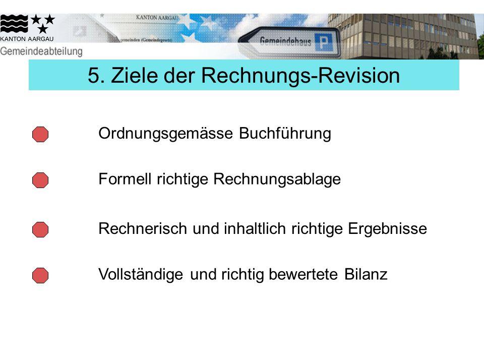 5. Ziele der Rechnungs-Revision