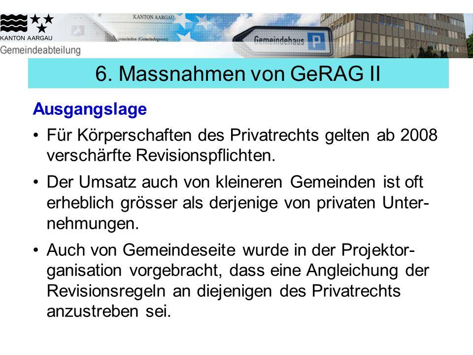 6. Massnahmen von GeRAG II