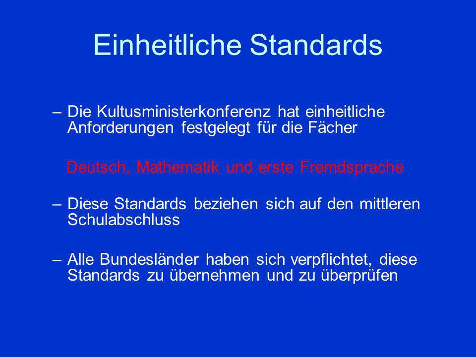 Einheitliche Standards