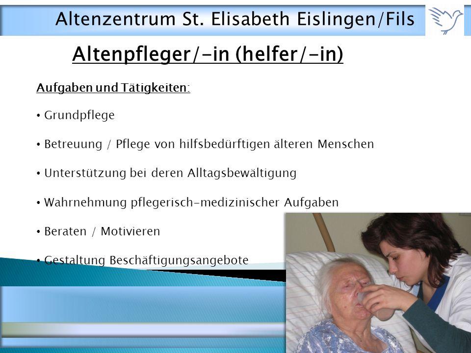 Altenpfleger/-in (helfer/-in)