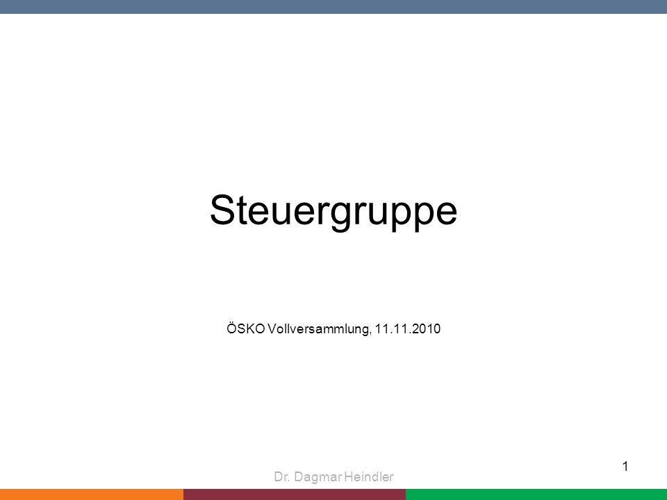 Steuergruppe ÖSKO Vollversammlung, 11.11.2010 Dr. Dagmar Heindler