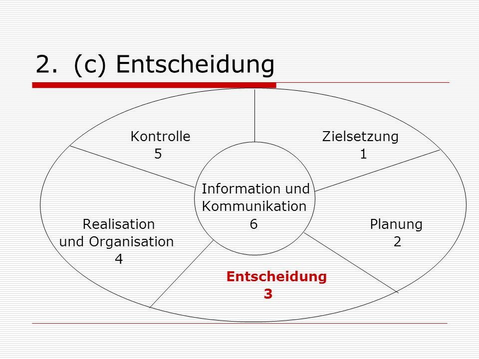 (c) Entscheidung Kontrolle Zielsetzung 5 1 Information und