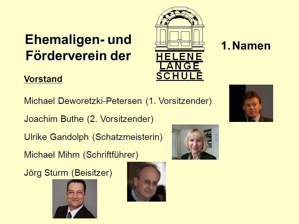 Namen Vorstand Michael Deworetzki-Petersen (1. Vorsitzender)