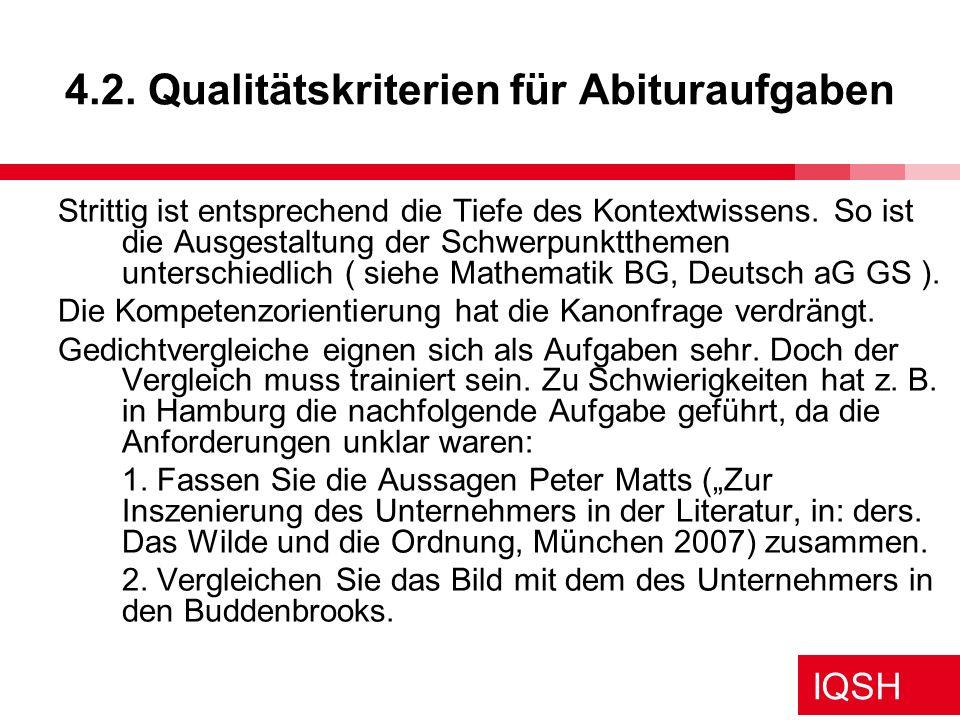 4.2. Qualitätskriterien für Abituraufgaben