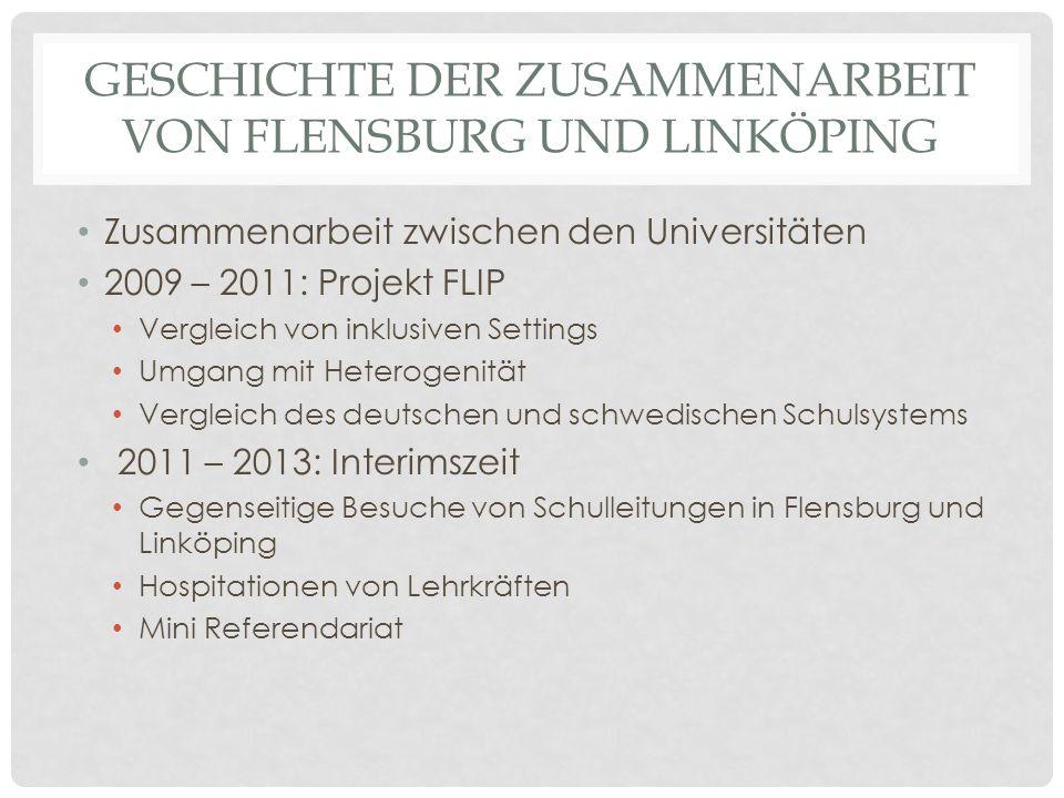 Geschichte der Zusammenarbeit von Flensburg und Linköping