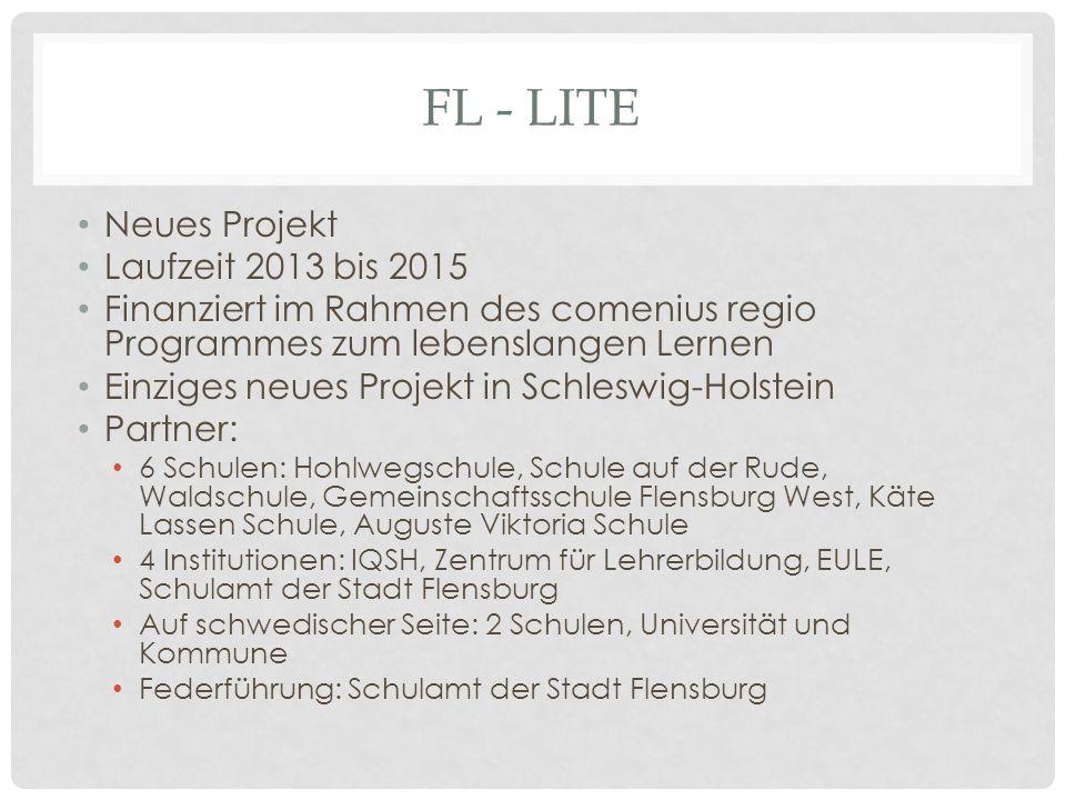 FL - lite Neues Projekt Laufzeit 2013 bis 2015