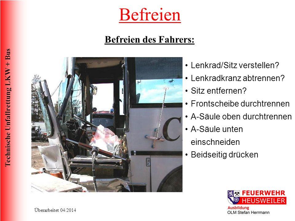 Befreien Befreien des Fahrers: Lenkrad/Sitz verstellen