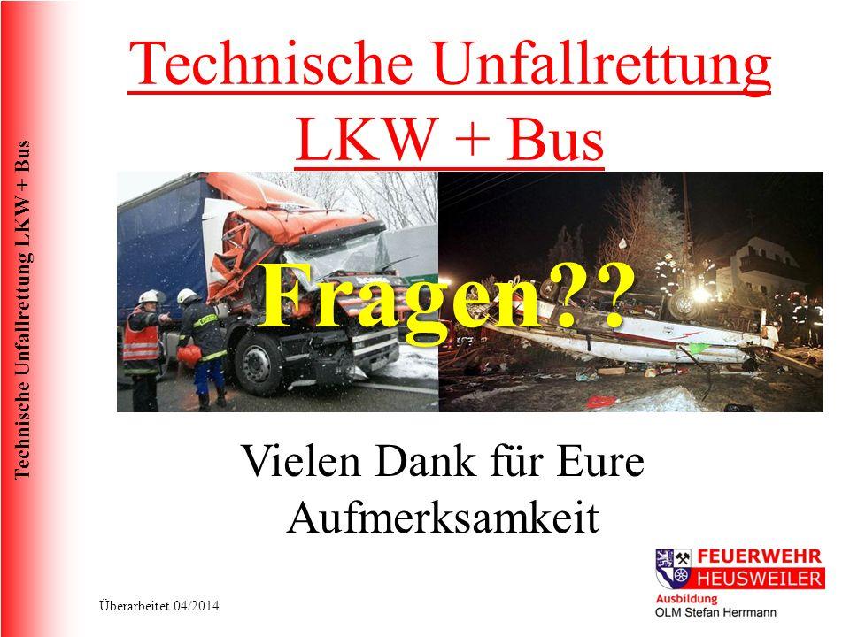 Fragen Technische Unfallrettung LKW + Bus