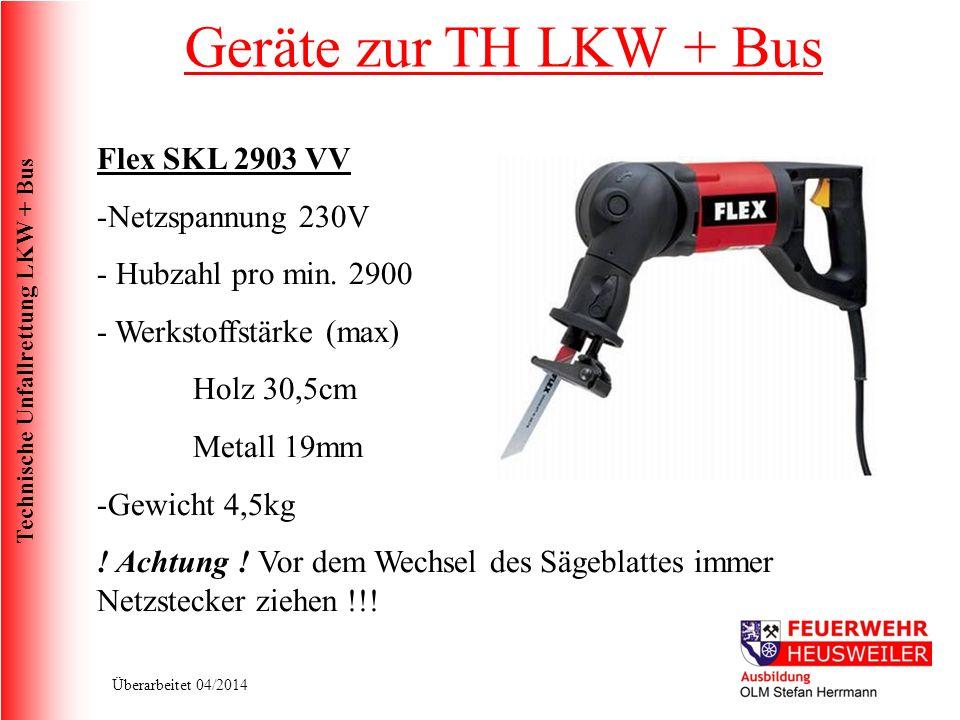 Geräte zur TH LKW + Bus Flex SKL 2903 VV Netzspannung 230V
