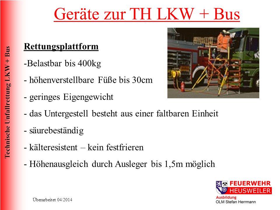 Geräte zur TH LKW + Bus Rettungsplattform Belastbar bis 400kg