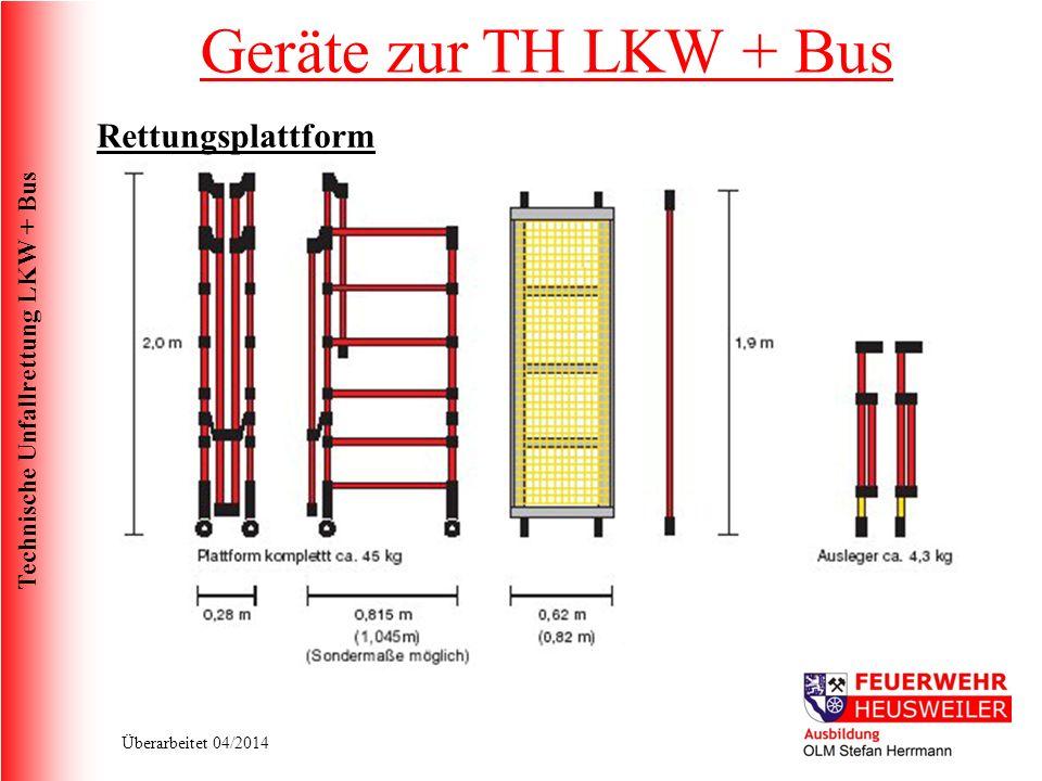 Geräte zur TH LKW + Bus Rettungsplattform