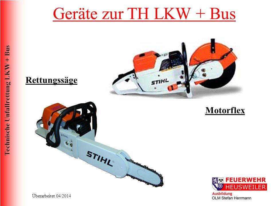 Geräte zur TH LKW + Bus Rettungssäge Motorflex