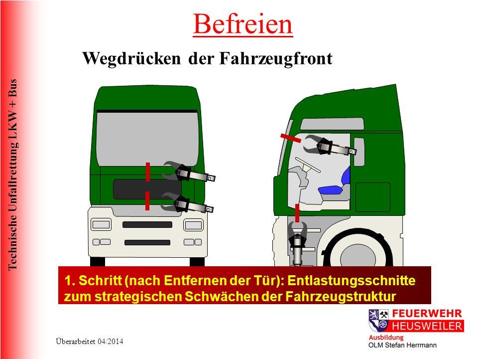 Befreien Wegdrücken der Fahrzeugfront