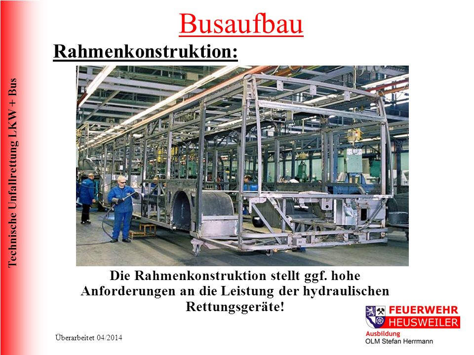 Busaufbau Rahmenkonstruktion: