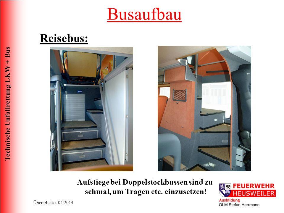 Busaufbau Reisebus: Aufstiege bei Doppelstockbussen sind zu