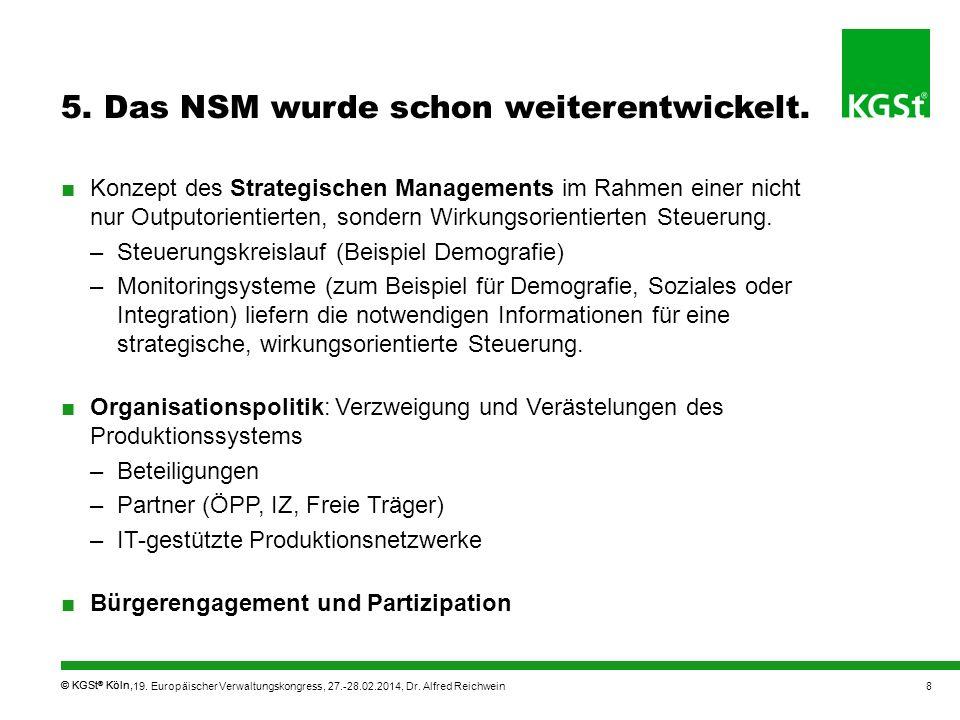 5. Das NSM wurde schon weiterentwickelt.