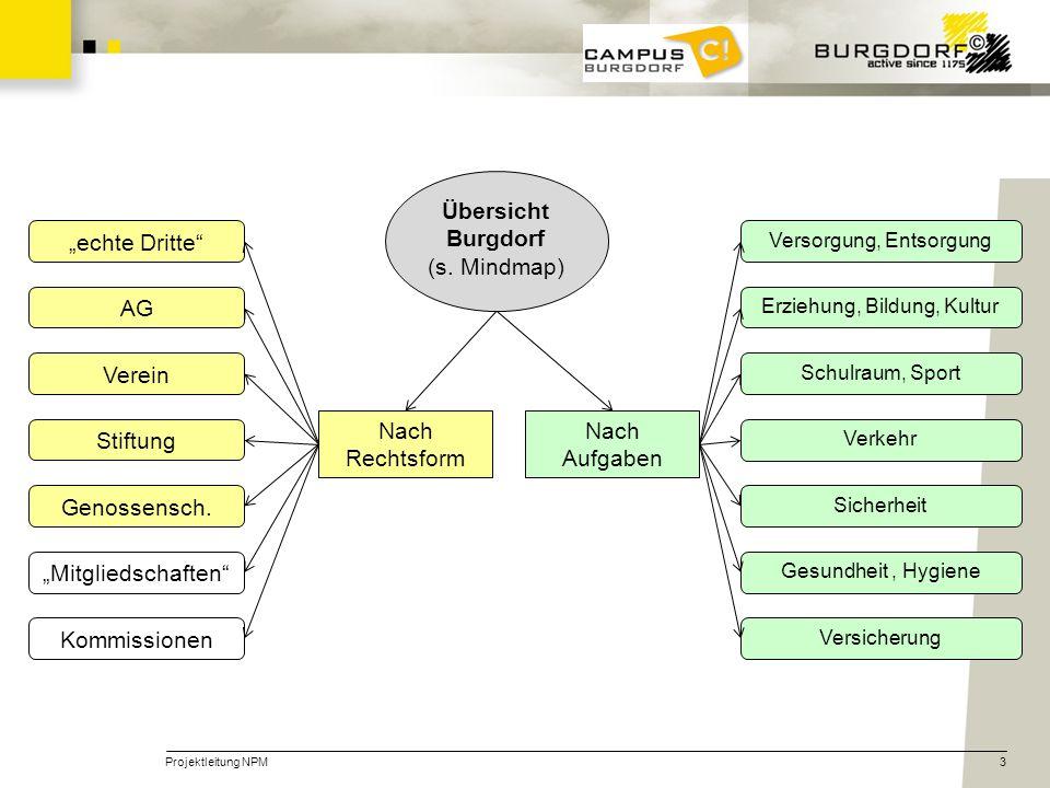 """Übersicht Burgdorf (s. Mindmap) """"echte Dritte AG Verein Stiftung"""