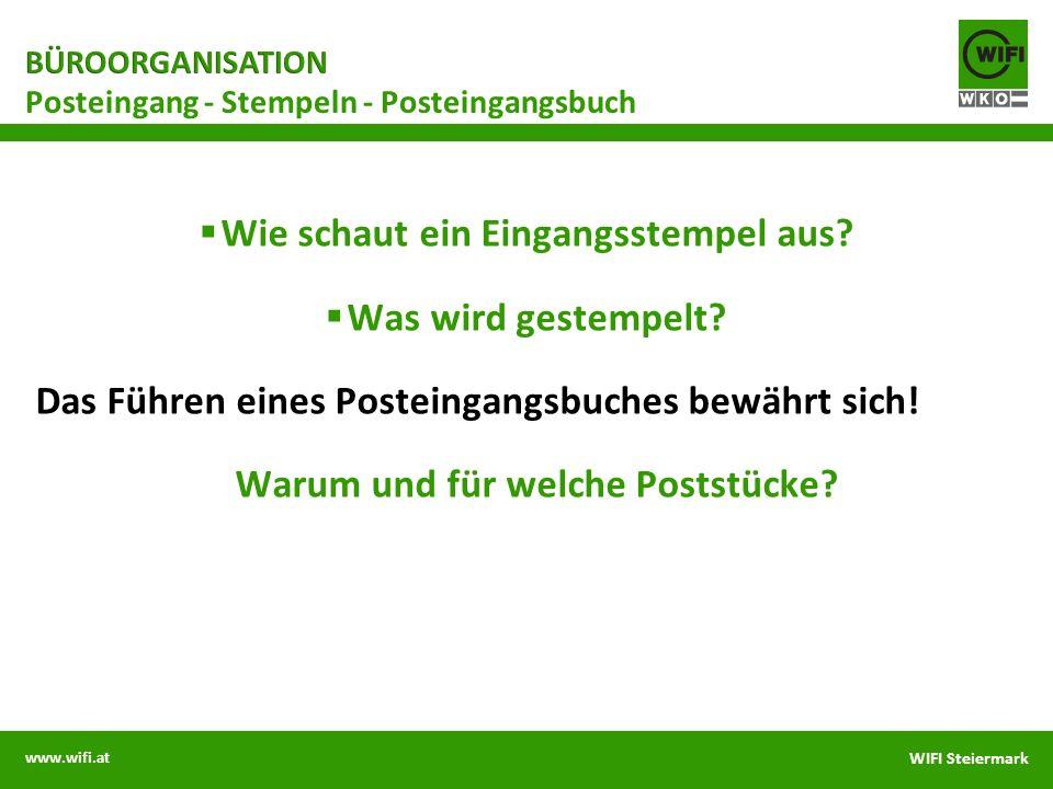 Posteingang - Stempeln - Posteingangsbuch