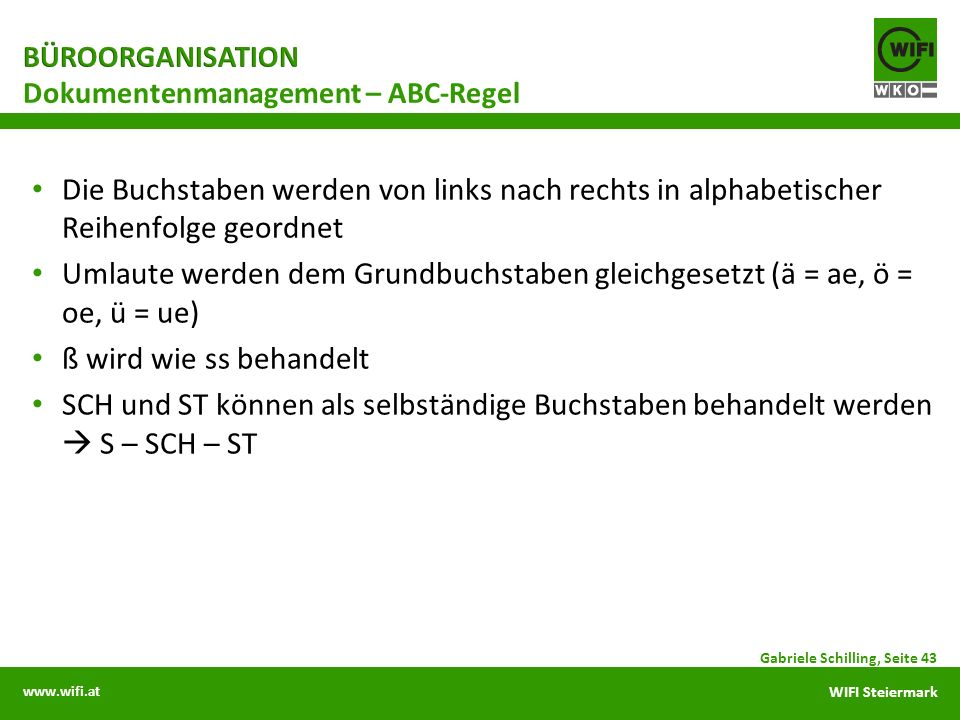 Dokumentenmanagement – ABC-Regel