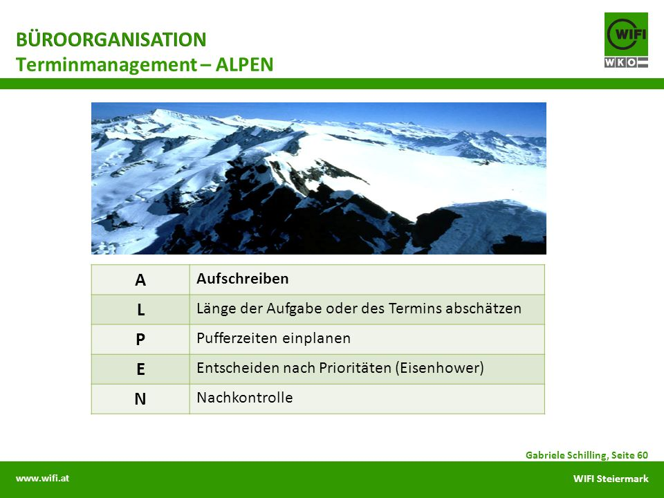 Terminmanagement – ALPEN