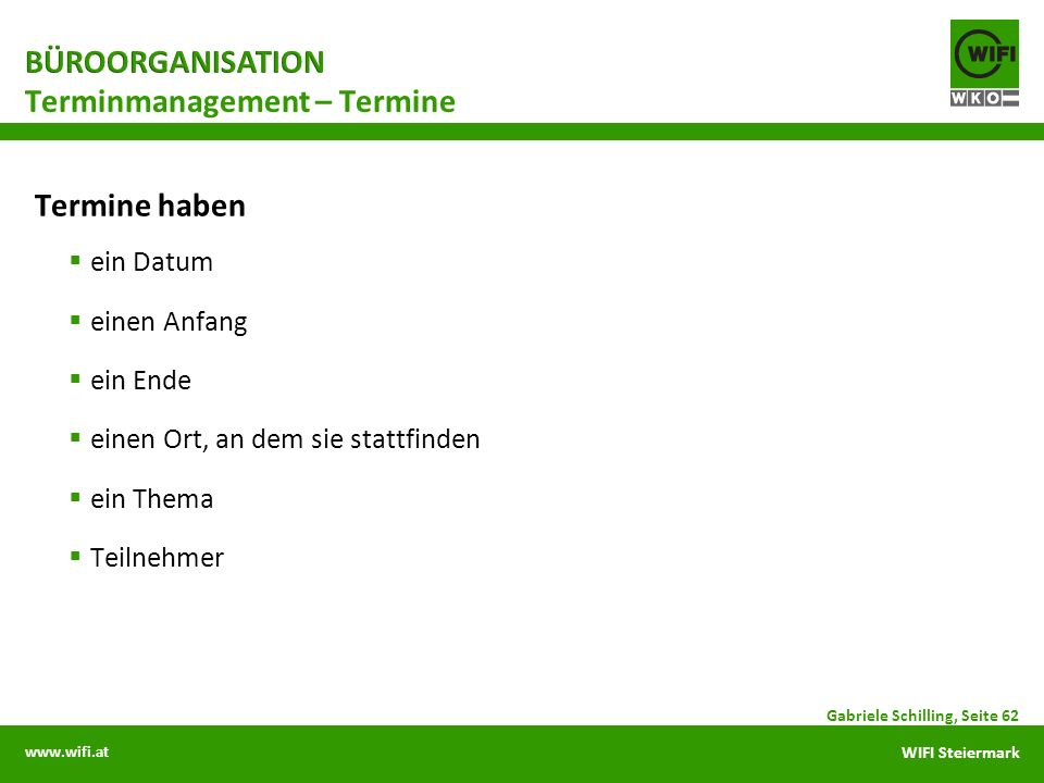 Terminmanagement – Termine