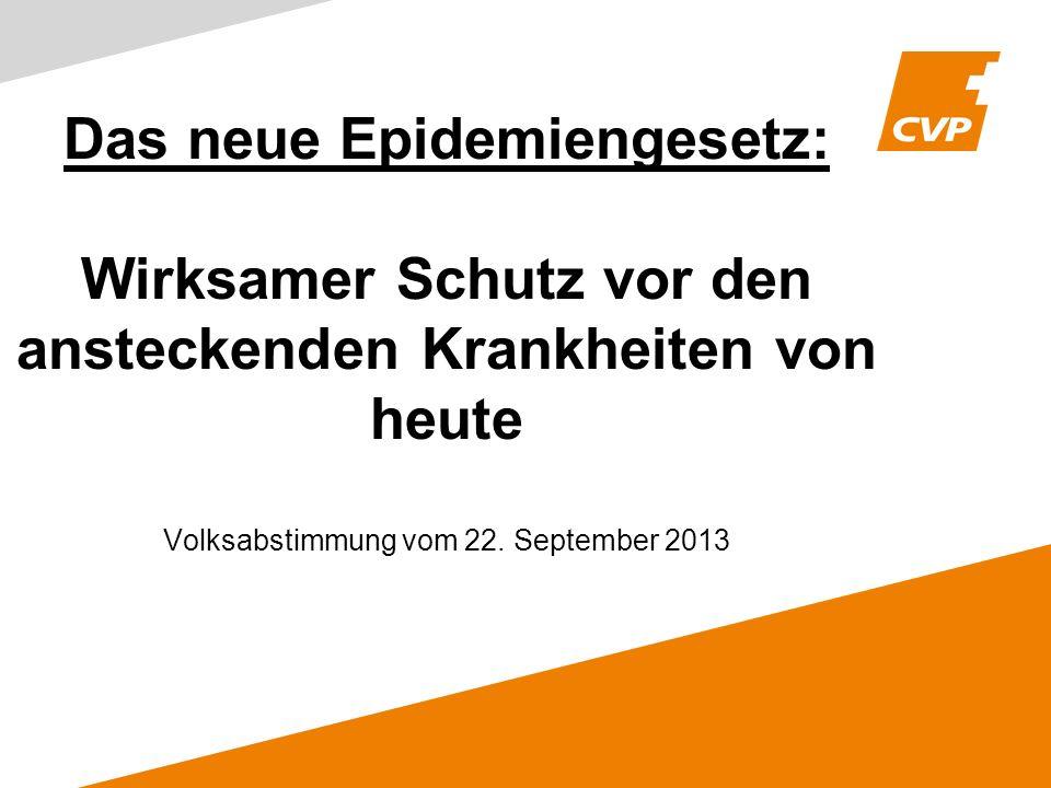 Das neue Epidemiengesetz: Wirksamer Schutz vor den ansteckenden Krankheiten von heute Volksabstimmung vom 22.