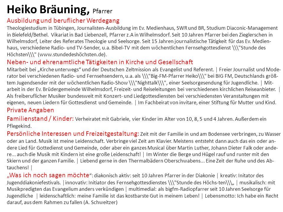 Heiko Bräuning, Pfarrer