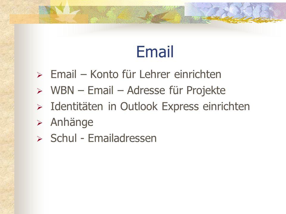Email Email – Konto für Lehrer einrichten