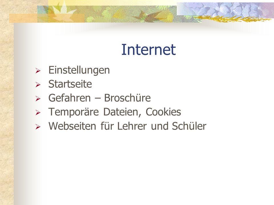 Internet Einstellungen Startseite Gefahren – Broschüre