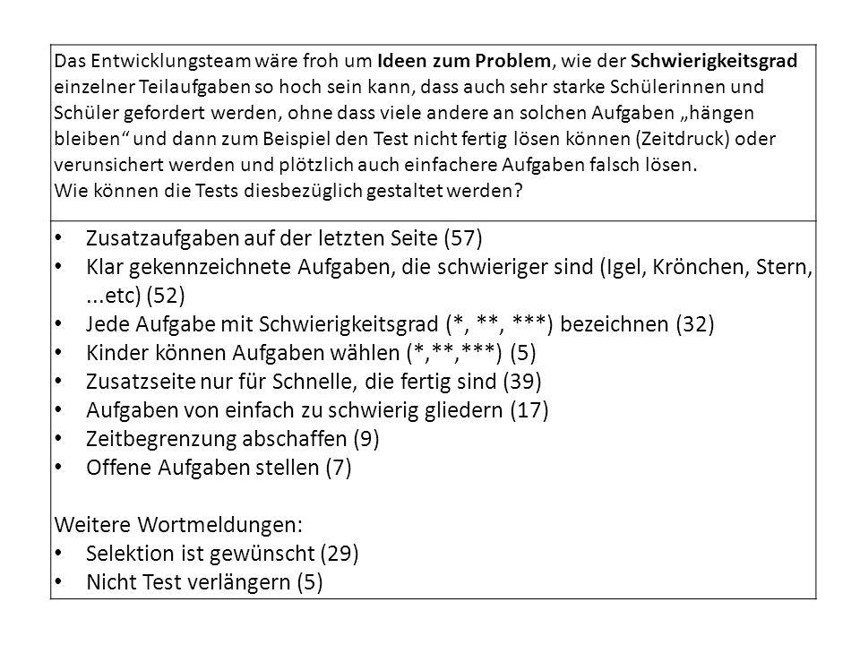 Zusatzaufgaben auf der letzten Seite (57)