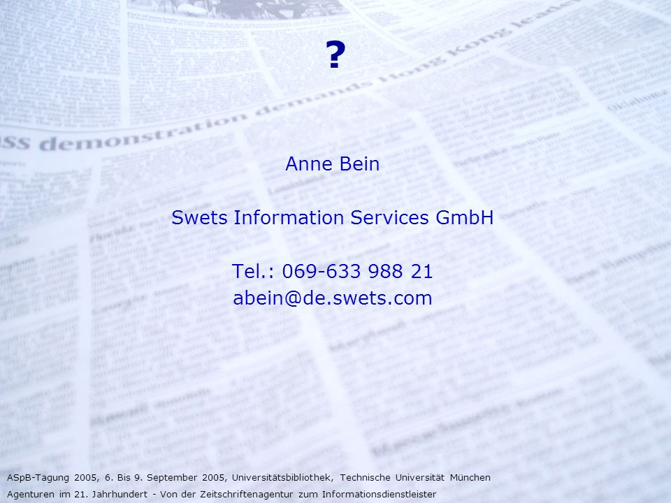 Swets Information Services GmbH