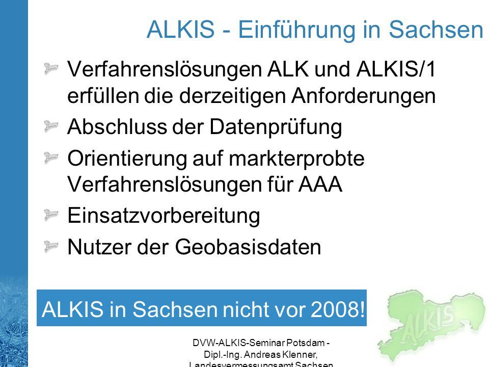 ALKIS - Einführung in Sachsen